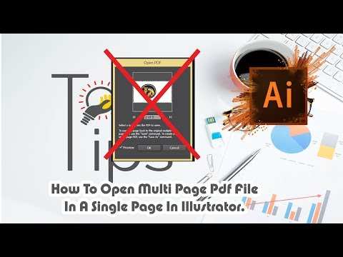Adobe Illustrator CC Tutorial | How To Open Multi Page PDF File In A Single Page In Illustrator.