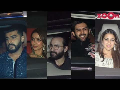 Karan Johar's Diwali Party 2018   Saif & Sara Ali Khan, Arjun Kapoor, Malaika Arora & more
