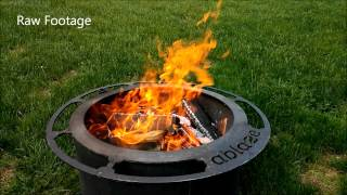 Zentro Smoke-Less Fire Pit with Lid - 24 inch Insert