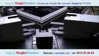 Máy ép góc một đầu cửa nhôm Xingfa