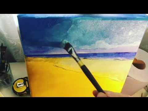 Costa Calma Beach Painting time-lapse video