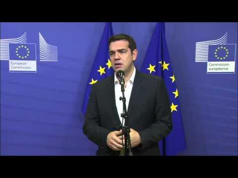 Προσφυγικό: Δηλώσεις του Πρωθυπουργού μετά το τέλος της μίνι Συνόδου Κορυφής στις Βρυξέλλες