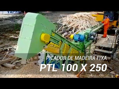 Picador de madeira fixo em instalação do cliente PTL 100 x 250