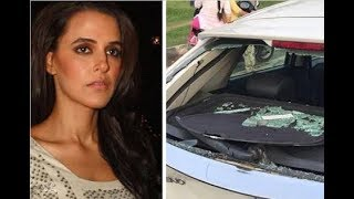 Neha dhupia met with an accident and what people did there you will not believe.