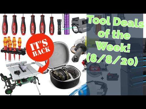 Hot Tool Deals of the Week! (Big Week, Big Deals!) 8/8/2020 #DoTDotW