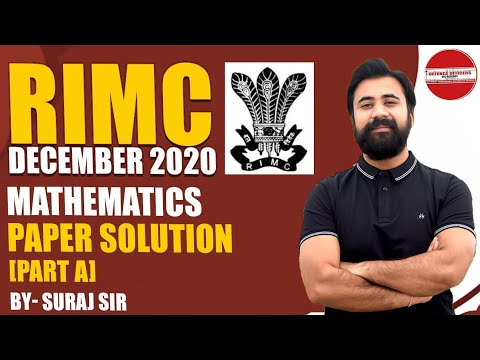 RIMC MATH PAPER SOLUTION DEC - 2020|PART - A | Live 🔴|