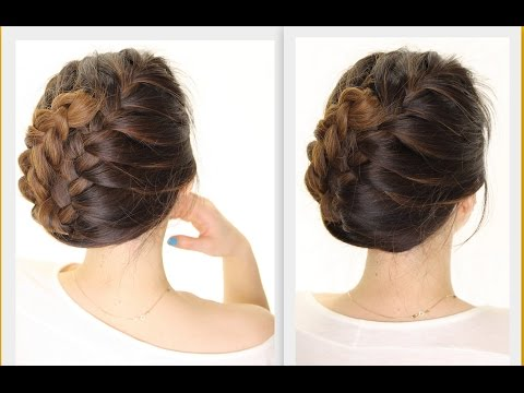 5-MINUTE ★ French BRAID TUCK | Holiday HAIRSTYLES