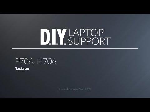 XMG P705, P706, P707, P707 2017 PRO Gaming Laptops: Tastatur / Keyboard