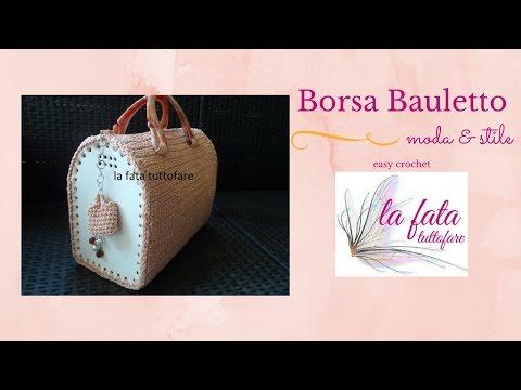 uncinetto - realizzazione di una borsa a bauletto