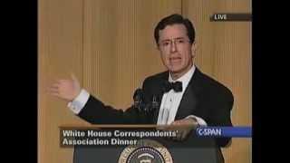 Stephen Colbert Roasts Bush at 2006 White House Correspondents Dinner