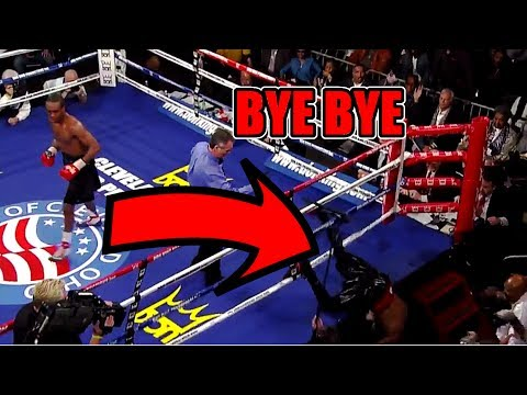 WHEN BOXERS GET KNOCKED OUT OF THE RING