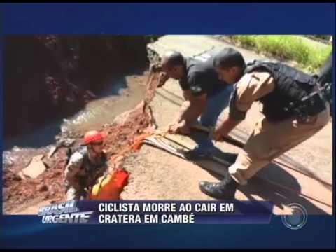 Ciclista morre ao cair em cratera em Cambé