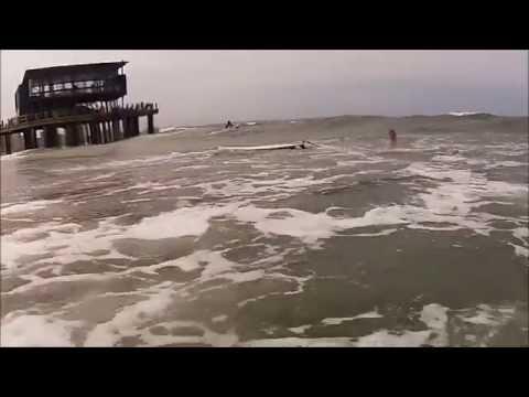 Surfing Ushaka beach Durban