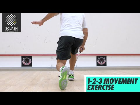 Squash tips: Movement drills with Thierry Lincou - 1-2-3 movement exercise