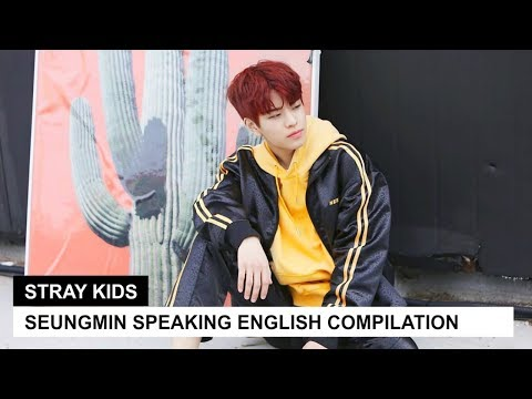 STRAY KIDS' SEUNGMIN SPEAKING ENGLISH | Pt. 1