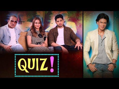 Glorious SHAH RUKH KHAN Quiz With Akshaye Khanna, Sonakshi Sinha, Sidharth Malhotra