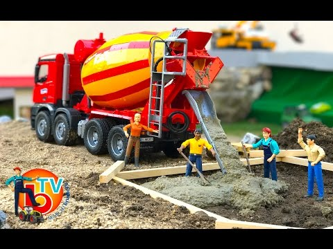 BRUDER TRUCK Construction Company! Cement mixer Mercedes Benz