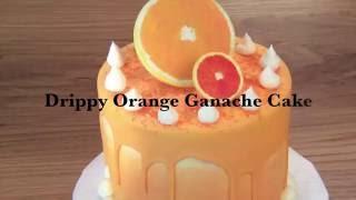 Drippy Orange Ganache Cake