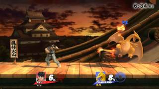 Need critiquing! My friend and me playing! He's Ryu, I'm Charizard. Please let us know how we can both improve.