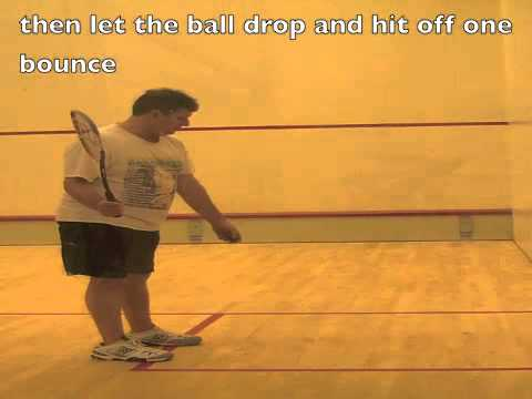 Squash video lessons to practice the short swing
