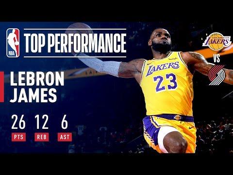 Video: LeBron James Fills The Stat Sheet In Laker Debut | October 18, 2018