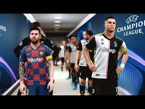 Barcelona vs Juventus (COM vs COM) Champions League | PES 2019