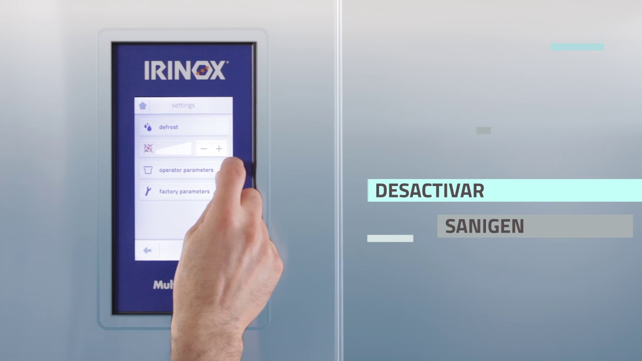 Irinox Multifresh MYA Tutorial - 08 Configuracion Sanigen