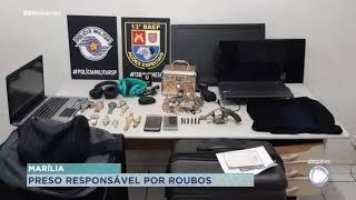 Preso um dos suspeitos de participar de roubo em residências em Marília