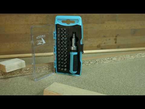 AGT 38-teiliges Werkzeug-Bit-Set mit Ratsche (PEARL Edition)