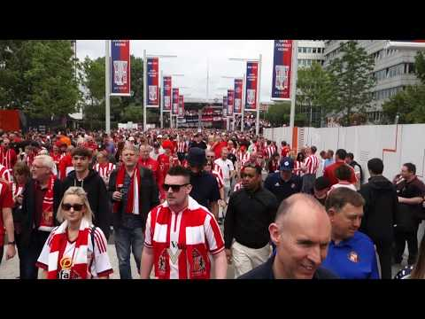 The UK Today - Charlton Athletic & Sunderland Fans Arrive At Wembley Stadium - Play Off Final 2019