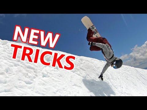 FINALLY GOT THE HAND PLANT! - NEW SNOWBOARD TRICKS