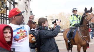 Buckingham United Kingdom  city photos gallery : SHANNON BRIGGS ESCORTED AWAY FROM BUCKINGHAM PALACE BY THE POLICE AFTER CALLING OUT UK HEAVYWEIGHTS!