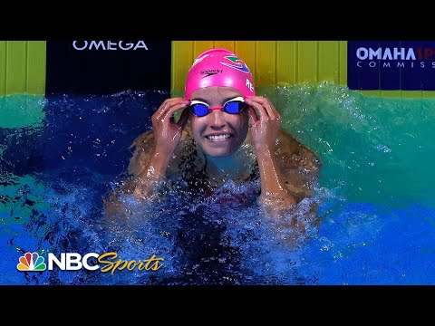 Regan Smith all smiles after closing in on Olympic dream in 100 back | NBC Sports