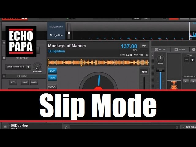 Virtual DJ 8: Slip Mode
