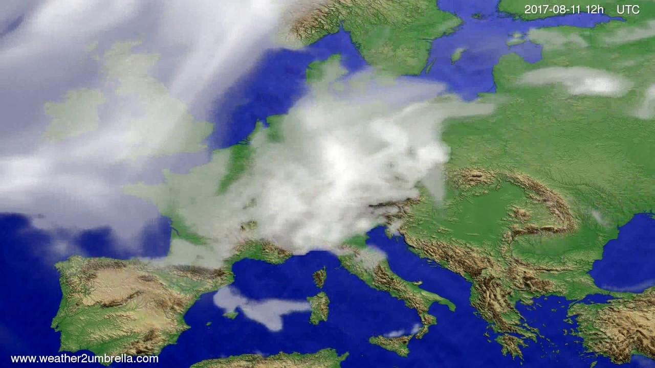 Cloud forecast Europe 2017-08-09