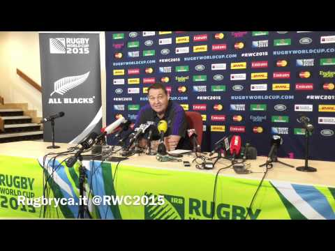 RWC2015, Steve Hansen prima di NZLvARG