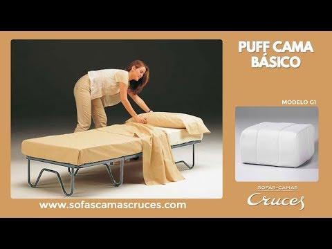 Puff cama perfecto para los invitados. Cómodo y ocupa poco espacio