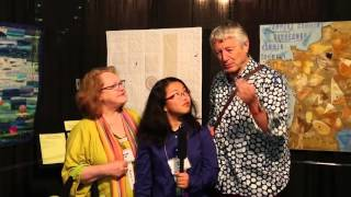 Sophie Rubin visits with Kaffe Fassett and Liza Lucy
