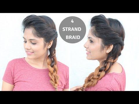 Braid hairstyles - 4- Strand Braid Hairstyle For Medium To Long Hair