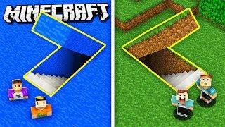 SECRET UNDERWATER HOUSE VS SECRET UNDERGROUND HOUSE (The Pals Minecraft)