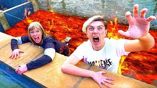 FLOOR IS LAVA CHALLENGE For 24 HOURS!! *Bad Idea*