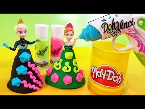 Play-Doh DohVinci Deluxe Styler Disney Frozen Elsa Anna Design a dress New 2014 MsDisneyReviews