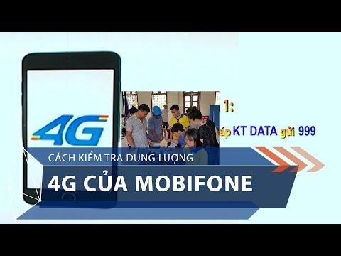 Cách kiểm tra dung lượng 4G của Mobifone | VTC1 - Thời lượng: 40 giây.