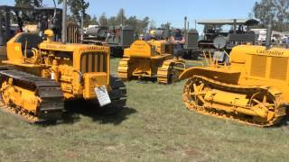 Kingaroy Australia  city photos : CRAWLER TRACTORS AT KINGAROY VINTAGE MACHINERY SHOW SEPTEMBER 2015