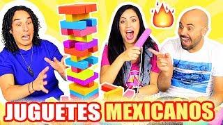 PIRINOLA, JENGA, CANICAS?! JUGUETES MEXICANOS! PLAY SandraCiresArt ft LOS RULES