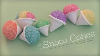 Snow Cone - Polymer Clay Charm - How To - Summer Crafts - YouTube