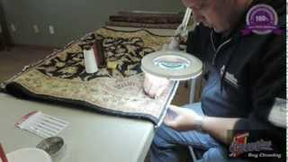Securing the ends of a Persian rug