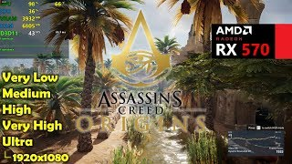 RX 570 | Assassin's Creed Origins - 1080p All Settings!