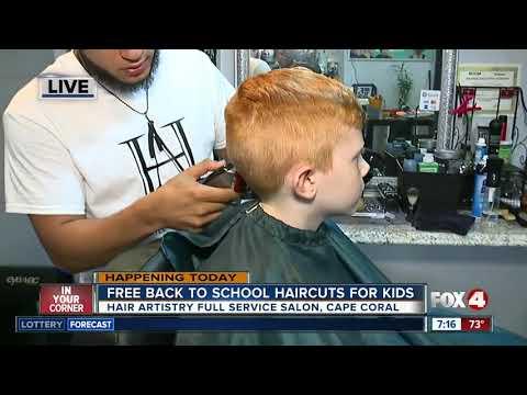 Hair cutting - Back to school hair cuts