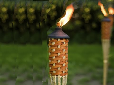 The Proper Easy Way to Mount How Install Free Standing Tiki Torch with 2